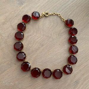 Garnet color jewel necklace